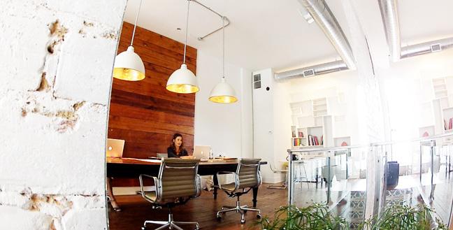 The SOCO studio, a bright airy space