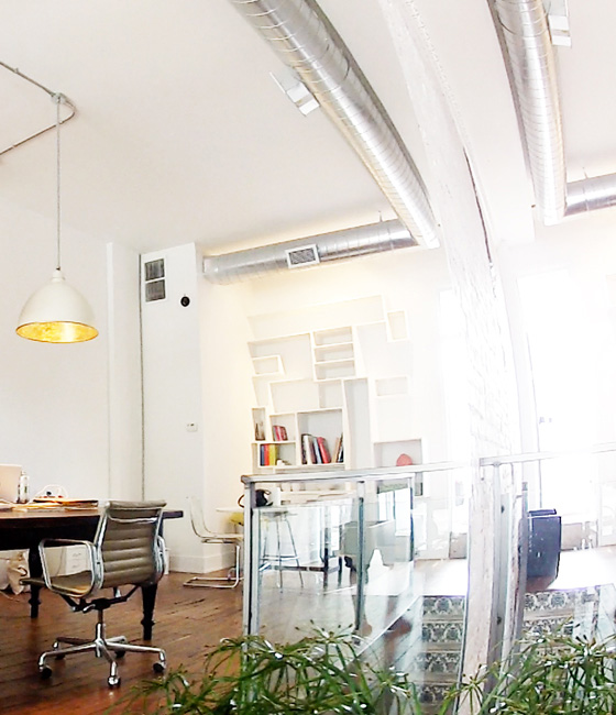 The SOCO studio, a bright airy space